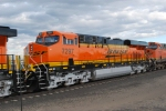 BNSF 7297 with BNSF 7631 behind her waits to roll norht on Z PTL-CHI.