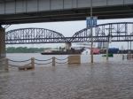 Flooding near the MacArthur Bridge
