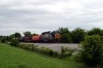 CSX 6066 leads SB Local J759 at Dillard Road 7/28/09