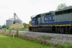 CSX 6411/CSX 2341 takes Local J759 south on the CSX Main as R.J. Corman 3438/1603 approaches the yard on the Memphis Line late Friday afternoon 5/8/09