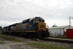 J765 has dropped their Louisville-BG train at Magna and run to the yard with CSX 2242/6490/6154 where they will park for the evening 5/10/09