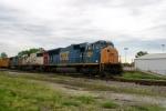 CSX 4804/SOO 6031/CSX 8735 lead Q573 southbound at Main Street 6:03pm 5/10/09