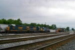 The 3 locomotives that came in as J765 are sitting in Memphis Jct. Yard along with locals 6066, 6131 at dusk 5/10/09
