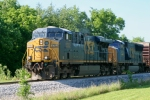 CSX 5302/4755 lead Q275 as they exchange cars in Memphis Jct. Yard 4:43pm 5/20/09