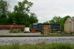 CSX 6097 pushes past Commonwealth Feed along the R.J. Corman Memphis Line 5/22/09