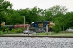 CSX 6097 pushes J759 across Memphis Jct. Rd on the R.J. Corman Memphis Line 5/22/09