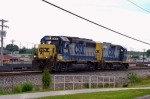 CSX 6941/2304 are the power for J765 out of Louisville as they wait behind Q275 to get to the yard 5:10pm 5/22/09