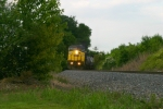 """CSX 1 """"Spirit of West Virginia"""" is on point of Q573 SB 6:27pm 5/22/09"""