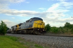 CSX 1 'Spirit of West Virginia' approaches Tobacco Road along High Rail Drive 6:27pm 5/22/09