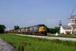 CSX Q574-16 northbound enters Memphis Jct Yard approaching MP 118 at 8:19am 6/17/09