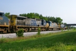 CSX 335/7543/31 are the front 3 on Q574-17 6/20/09 8:19am