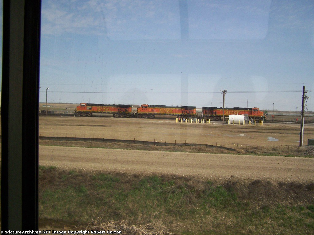 Power Sits Near What Appears to be a Refueling Station in the BNSF Yard