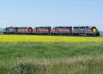 Quintuplet GP35s Move Along the Interchange Line