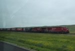 CP 8884 Sits With an Eastbound Manifest Train