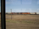 Freight Train Viewed Through our Amtrak Window