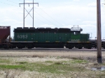 BNSF 6383 Was One of at Least a Dozen Motors in Storage