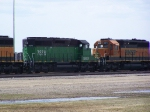 BNSF 7876 & BNSF 6875 Were Two of at Least a Dozen Motors in Storage