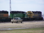 BNSF 7881 Were Two of at Least a Dozen Motors in Storage