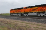 BNSF 7293 and BNSF 7295 pass me as they roll north.