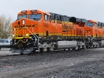 BNSF 7293 close up as she rolls towards me at the Rathdrum, Idaho crossing.