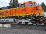 BNSF 7292 Close up as she rolls north towards Whitefish, Montana as a 3rd unit on the Z PTL-CHI.
