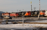 Brand new SD70M-2s arrive at the London East Yard from the factory in London, ON.
