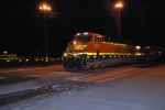 BNSF 7276 a brand new ES44DC pulls out of the depot heading west.
