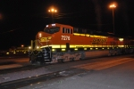 BNSF 7276 with BNSF 7272 pull west out of BNSF Needles towards BNSF Barstow, CA