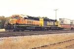 Westbound stack train rolls through University