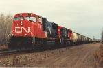 Westbound potash train