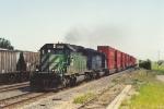 Westbound stack train rolls through