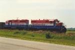 Nothbound ballast train