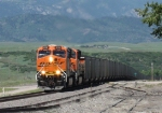 BNSF 6110 leads a southbound coal train up the front range