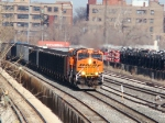 BNSF #5933 leads coal loads on the B&OCT at 59th St Int