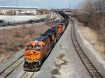 BNSF #5933 with coal loads on the B&OCT going under the former GT 59th ST bridge