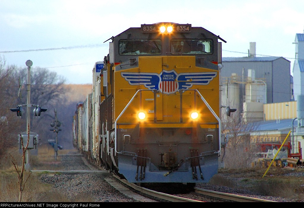 UP 8354, NEW SD70ACe leads a manifest eastbound