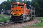 BNSF 9389, NEW SD70ACe throttles up to Run-8 leading northbound coal loads