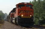 BNSF 9396 leads a northbound empty hopper train