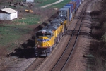 UP 8310 Westbound IG2GS 11 with three new SD70ACe's