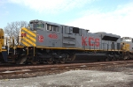 KCS 4003, EMD SD70ACe, is awaiting a grain train load at the BNSF Yard