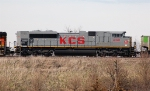 KCS 4020, EMD SD70ACe, works westbound on the BNSF at
