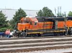 BNSF 2035 in a yard derailment today