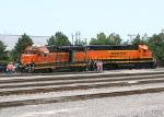 BNSF 2035/BNSF 2946 in a yard derailment today