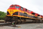 Closeup of 4059 shortly after arriving at the KCS Intermodal Treminal