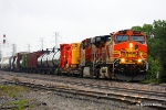 A seldom seen BNSF move over the TRE system