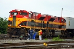 Road crew arrives with 13 minutes left as the intermodal yard crew prepares to mount KCS 4059