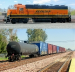 BNSF 2183 and PLMX 137115