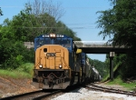 CSX 4827 leads Q614 through Athens