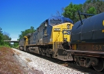 CSX 147 trails on Q619