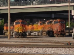 BNSF 4888 Sitting In Yard With No Nose Paint.